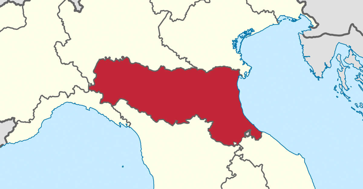 Infografica Emilia Romagna su Mappa. I Siti di Interesse Nazionale dell'Emilia Romagna: Fidenza e Sassuolo-Scandiano