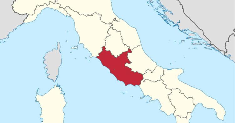 La Regione Lazio su Mappa dell'Italia. I Siti di Interesse Nazionale per le bonifiche nel Lazio